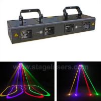 Buy cheap Multi-head Laser Lights BG-RG-146A Red+Green Four tunnels dj laser projector new price from wholesalers