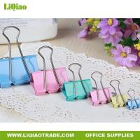 Buy cheap Desktop office stationery Colorful long-tail bill fold clip for office from wholesalers