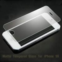 Buy cheap Anti glare tempered glass iphone 5S 0.3mm Screen Protector Film from wholesalers
