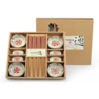 Buy cheap Promotion Items ceramic bowls and chopsticks gift set product
