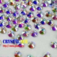 Buy cheap Crystal AB hot fix stone, iron on flat back rhinestone, hot fix strass crystals for decoration from wholesalers