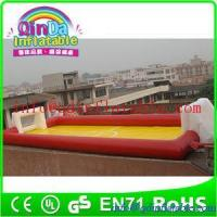 Buy cheap QinDa Inflatable football court water inflatable soap soccer field bubble soccer fields from wholesalers