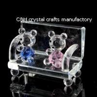 Buy cheap crystal small park bench model gift from wholesalers