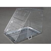 China Folding Metal Pet Crate standard carton strong folding sloping wire metal dog cage on sale
