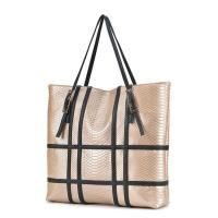Buy cheap Fashion design python cow leather two sided shoulder bag for women product