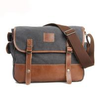 Popular design canvas leather college student single shoulder bag for men