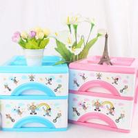 Multi-function plastic two layer storage drawers box, storage cabinet for tableware