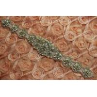 Buy cheap BEADED GLASS CRYSTAL RHINESTONE WEDDING BRIDAL SASH SCRAPBOOK APPLIQUE from wholesalers