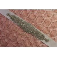 Buy cheap DIY Crystal Rhinestone Applique Bridal Sash Motif Silver Beaded & Glass product