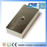 Buy cheap N42 F76.2x38.1x19.05 sink hole ndfeb block magnet from wholesalers