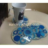Buy cheap Elegant colorful acrylic coaster HCK-022 from wholesalers