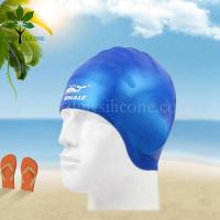 Buy cheap The silicone bracelet earmuffs silicone swimming cap, Men's swim cap from wholesalers