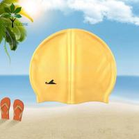 Buy cheap The silicone bracelet yellow silicone waterproof swim cap from wholesalers