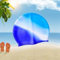 Buy cheap The silicone bracelet spell color silicone swim cap, waterproof swim cap processing from wholesalers