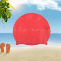 Buy cheap The silicone bracelet red color silicone swimming cap, Ms swim cap from wholesalers
