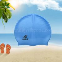 Buy cheap The silicone bracelet blue silicone waterproof swimming cap, OEM silicone swim cap from wholesalers