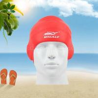 Buy cheap The silicone bracelet Men's swim cap, earmuffs silicone swimming cap from wholesalers