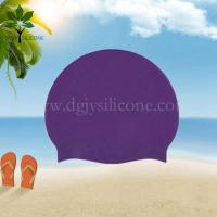 Buy cheap The silicone bracelet purple silicone waterproof swim cap from wholesalers