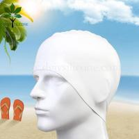 Buy cheap The silicone bracelet Men's swim cap, silicone waterproof swimming cap from wholesalers