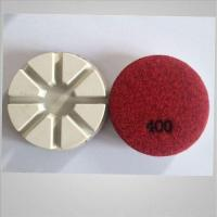 Concrete dry resin pads