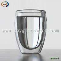 Buy cheap High Borosilicate double wall latte cofffee cups from wholesalers