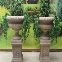Buy cheap Beautiful design marble modern flower pots for garden decora from wholesalers