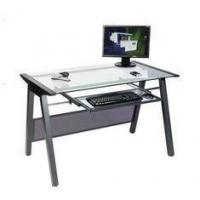 Buy cheap Square Modern Glass Top Computer Desk For Office / House DX-8806 from wholesalers