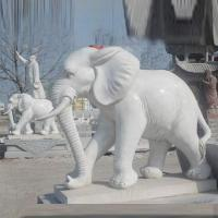 Buy cheap Stone Carving garden marble animal elephant sculpture from wholesalers