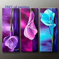 Buy cheap 3 Set Flower painting with oil and acrylic of artwork-fashion flower -oil painting on canvas from wholesalers