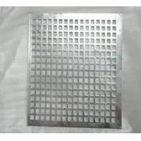 Buy cheap Square hole perforated stainless steel sheet from wholesalers
