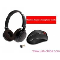 Buy cheap 2.4GHz RF Wireless mouse & headphone combo from wholesalers