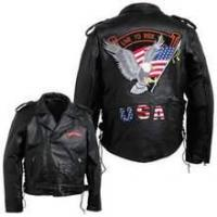 Buy cheap Diamond Plate Men's Hand-Sewn Pebble Grain Genuine Buffalo Leather Jacket from wholesalers