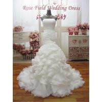 Buy cheap WDZ25 Mermaid Lace Up Off The Should Strapless Beading Wedding Dress product