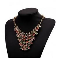 Buy cheap 2015 latest designs gemstone necklace colored gemstone jewelry statement necklace from wholesalers
