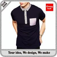 Buy cheap men 100 cotton pique polo shirt with pocket from wholesalers