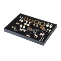 Buy cheap Black Jewelry Earring Pendant Display Show Case Tray Box from wholesalers
