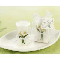 Buy cheap Candle Wedding Favors - Calla Lily Elegance Vase Shaped Candle from wholesalers