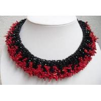 Buy cheap NL1017 - Red Coral and Black Onyx Necklace from wholesalers