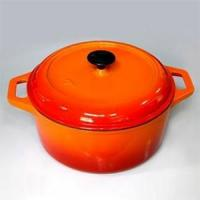 Buy cheap Round Enameled Oven In Orange, CR2813R from wholesalers