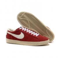 Buy cheap Nike Blazer Low Suede Vintage Trainers Womens Gym Red White from wholesalers