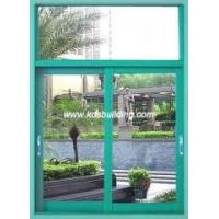 Aluminum sliding window with fixed panel