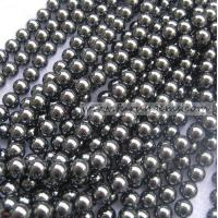 Buy cheap Stock Beads / Ready Items Mirror Hematite 8mm round beads ItemFR1159 from wholesalers