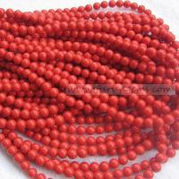 Buy cheap Stock Beads / Ready Items synthetical red coral 8mm round beads ItemFR1171 from wholesalers
