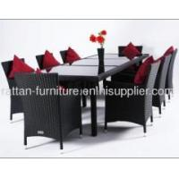 Buy cheap Hot sale CNNEWSKY outdoor wicker dining set 1 table 8 chair from wholesalers
