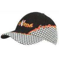 Check Embroidered Cap