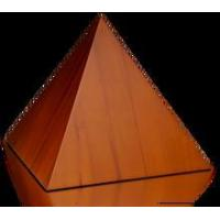 Buy cheap Birch Wood Pyramid Cremation Urn with Honey Finish - Medium from wholesalers