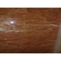 China Red Rosa Tea Marble Tile on sale