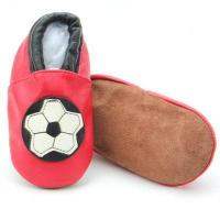 Buy cheap Durable Never Worn Prewalking Soft Sole Leather Wide Baby Shoes Wholesale Boys Football Red Shoes-BB from wholesalers