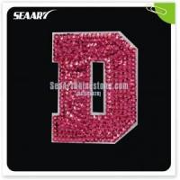 Buy cheap wholesale custom letters alphabet hot fix sequin trimming from wholesalers