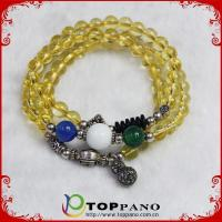 Buy cheap natural stone shamballa bracelet with colorful beads from wholesalers